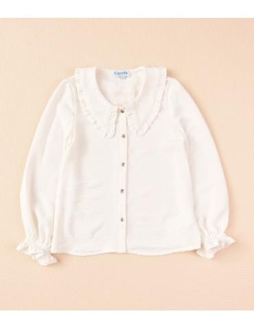 COCOTE TIENDA Blusa Cuellos Blanca Cocote