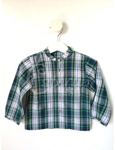 PILAR BATANERO Inicio Camisa Cuadros Verde PILAR