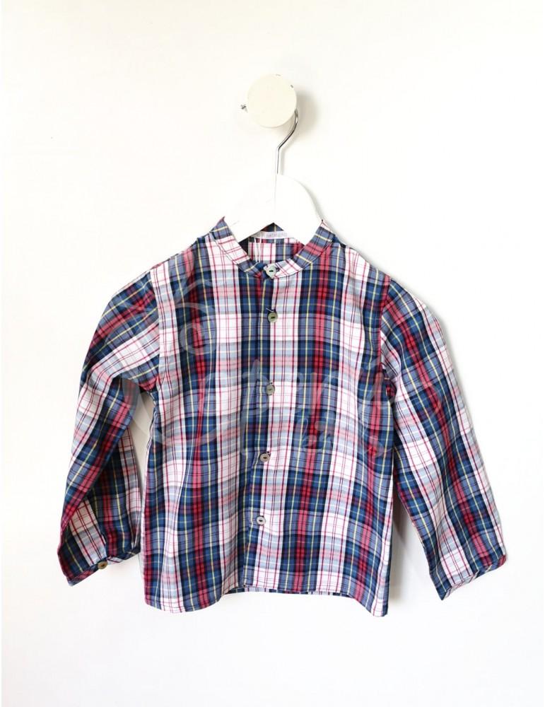PILAR BATANERO Inicio Camisa Cuadros Rojo PILAR