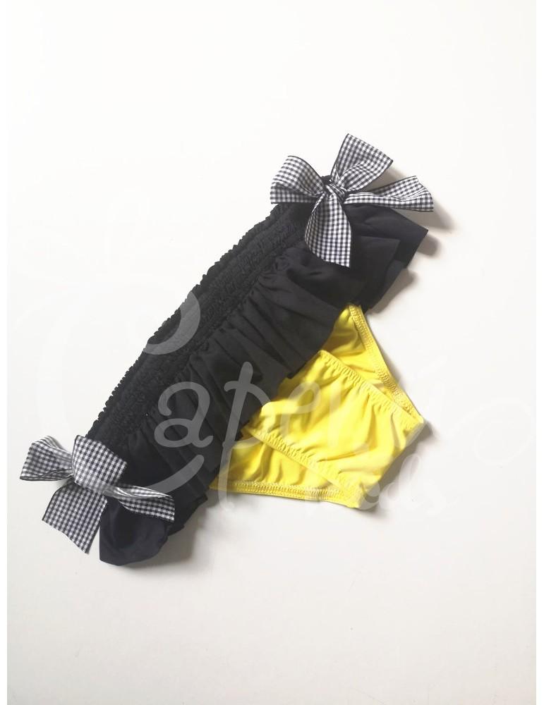 MON PETIT BONBON TIENDA Culetin Amarillo y negro de mon